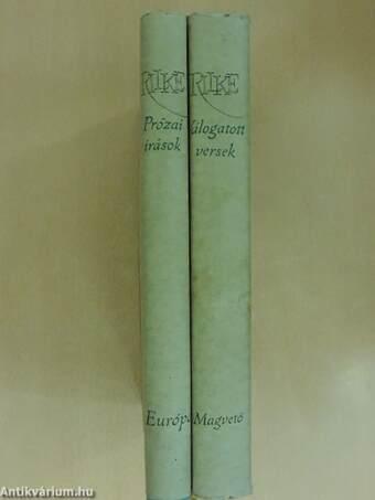 Prózai írások/Válogatott versek