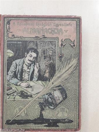 A Budapesti Ujságirók Egyesülete Almanachja 1905. (rossz állapotú)