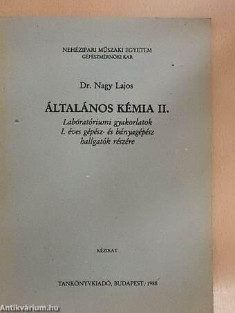 Általános kémia II.