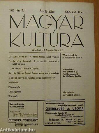 Magyar Kultúra 1943. június 5.