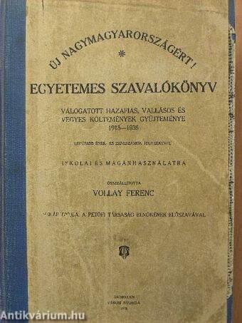 Egyetemes szavalókönyv (Hiányzik a 377-378. oldal)