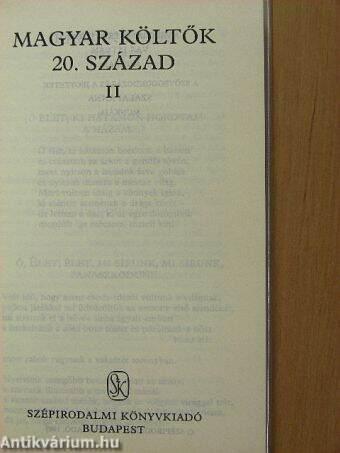Magyar költők II. (töredék)