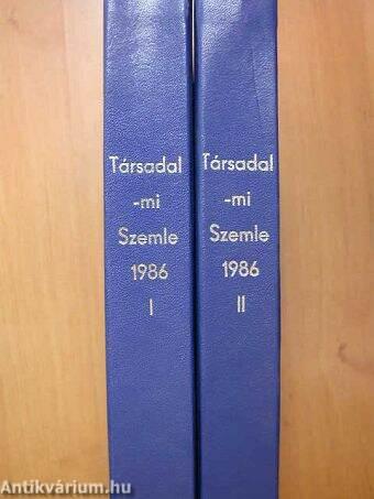 Társadalmi Szemle 1986. január-december I-II.