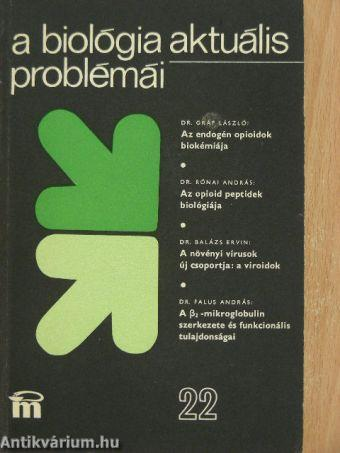 A biológia aktuális problémái 22.