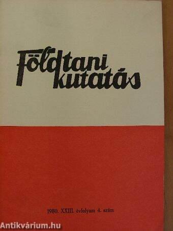 Földtani Kutatás 1980/4.