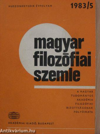 Magyar Filozófiai Szemle 1983/5.