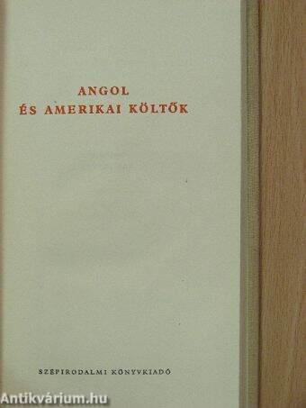 Angol és amerikai költők