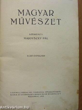 Magyar Művészet 1925. (nem teljes évfolyam)