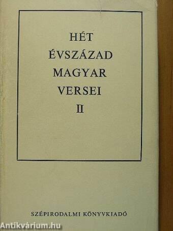 Hét évszázad magyar versei II. (töredék)
