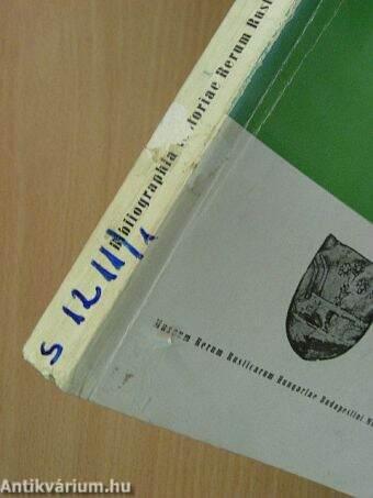 Bibliographia Historiae Rerum Rusticarum Internationalis 1965