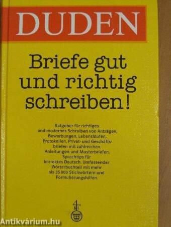 Wolfgang Eckey Duden Briefe Gut Und Richtig Schreiben