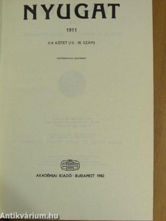 Nyugat 1911. II/A