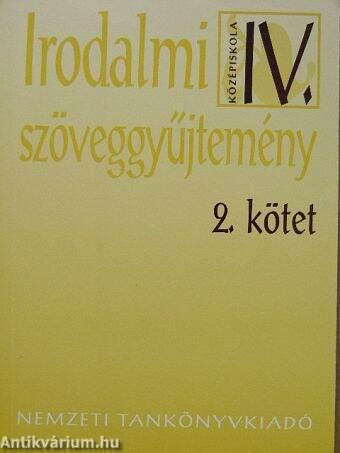 Irodalmi szöveggyűjtemény IV/2.
