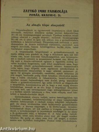 Az almafa törpe alanyairól - Zatykó Imre Faiskolája, Pomáz