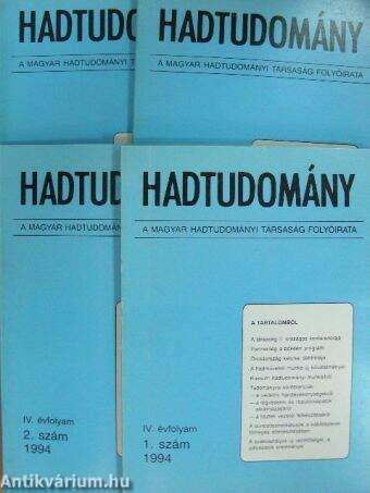 Hadtudomány 1994/1-4.