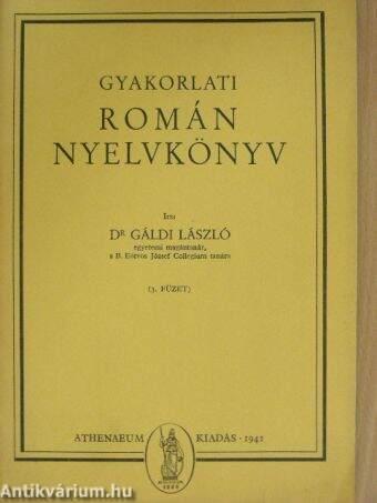 Gyakorlati román nyelvkönyv 3. füzet