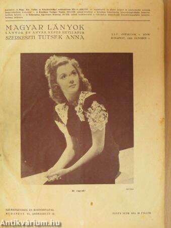 Magyar Lányok 1938. október 1.-1939. március 26.