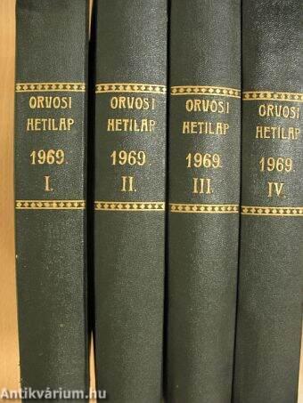 Orvosi hetilap 1969. január-december I-IV.
