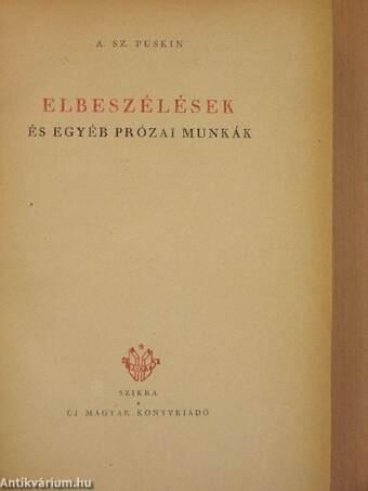 Elbeszélések és egyéb prózai munkák