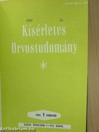 Kísérletes Orvostudomány 1982. január-december
