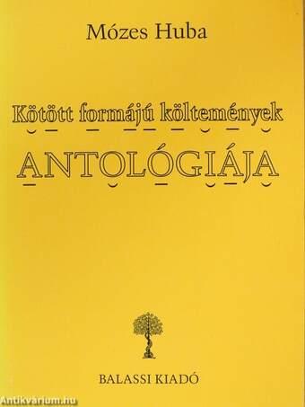 Kötött formájú költemények antológiája