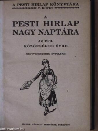 A Pesti Hirlap Nagy Naptára az 1931. közönséges évre